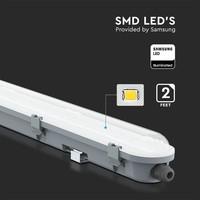 IP65 LED armatuur 120 cm 36W 4320lm 6400K koppelbaar