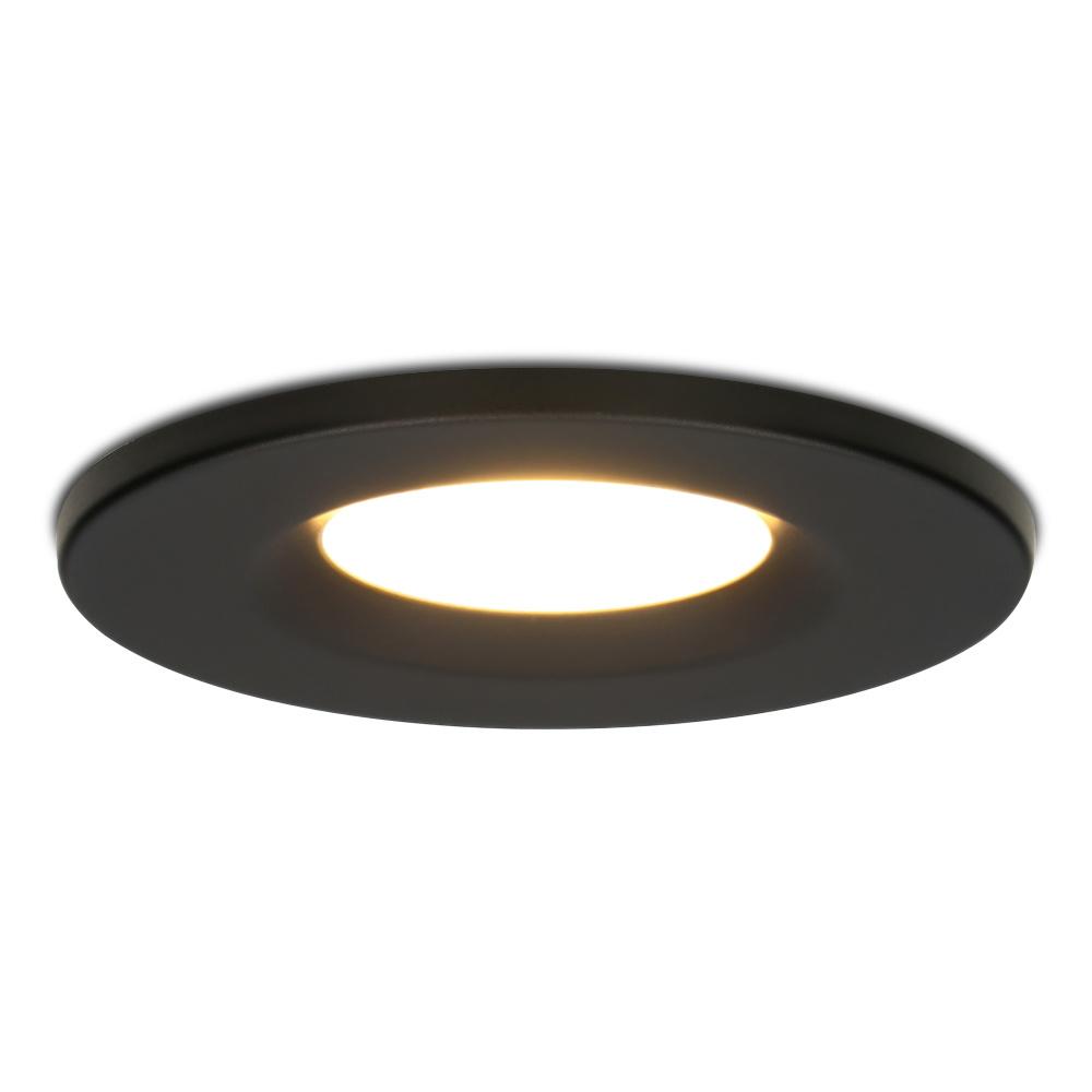 Dimbare LED inbouwspot zwart Venezia 6 Watt 2700K IP65
