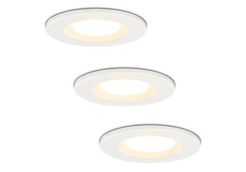 HOFTRONIC™ Set of 3 Dimmable LED downlight white Venezia 6 Watt 2700K IP65
