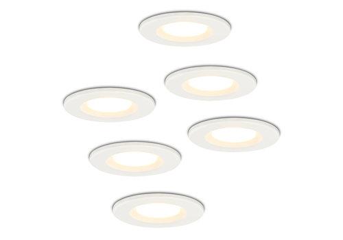 HOFTRONIC™ Set of 6 Dimmable LED downlight white Venezia 6 Watt 2700K IP65