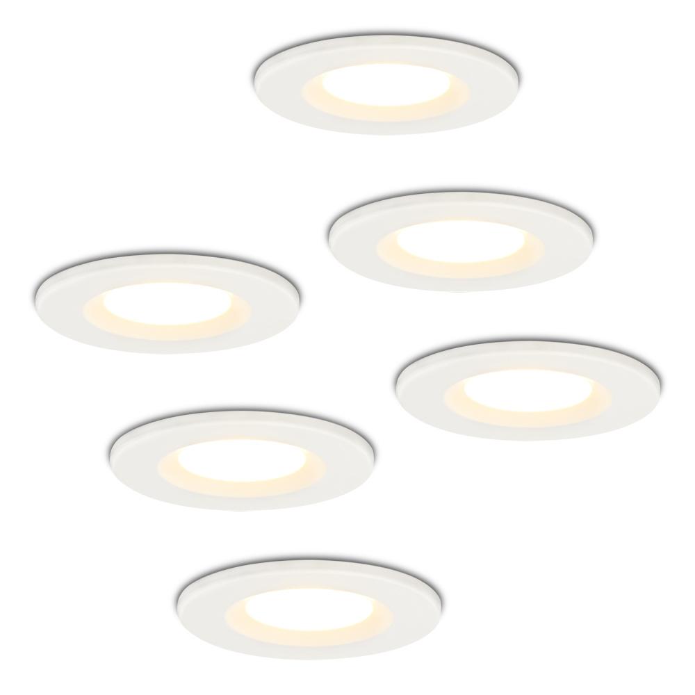 Set van 6 stuks Dimbare LED inbouwspot wit Venezia 6 Watt 2700K IP65