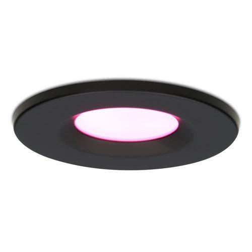 Homeylux Smart WiFi  LED inbouwspot Venezia RGBWW 6 Watt IP65 Zwart