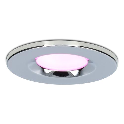 Homeylux Smart WiFi LED downlight RGBWW Venezia 6 Watt IP65 Chrome