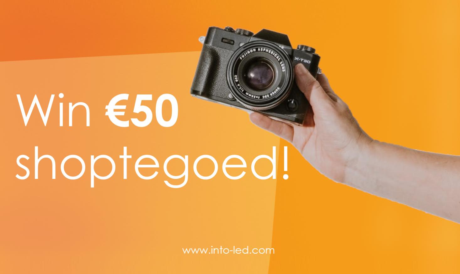 Wil jij kans maken op €50 shoptegoed?