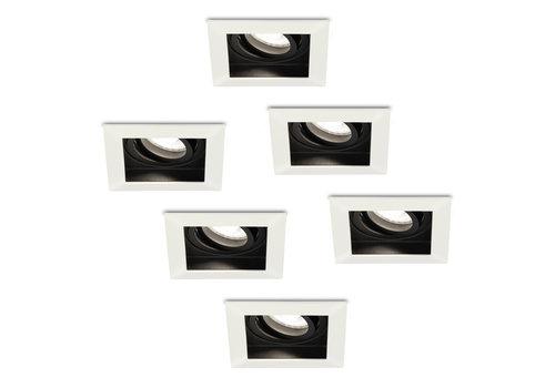 HOFTRONIC™ Set of 6 dimmable LED downlights Durham 5 Watt 6000K daylight white tiltable IP20