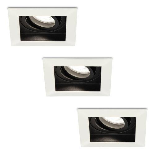 HOFTRONIC™ Set of 3 dimmable LED downlights Durham 5 Watt 6000K daylight white tiltable  IP20