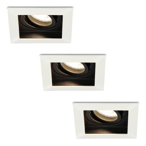 HOFTRONIC™ Set of 3 dimmable LED downlights Durham 5 Watt 4000K neutral white tiltable  IP20