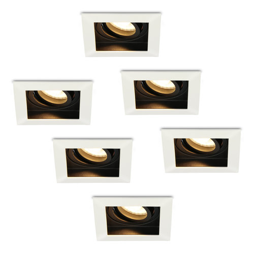 HOFTRONIC™ Set of 6 dimmable LED downlights Durham 5 Watt 2700K warm white tiltable
