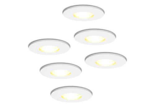 HOFTRONIC™ Set of 6 dimmable LED downlights Barcelona 5 Watt spot IP44 [waterproof]
