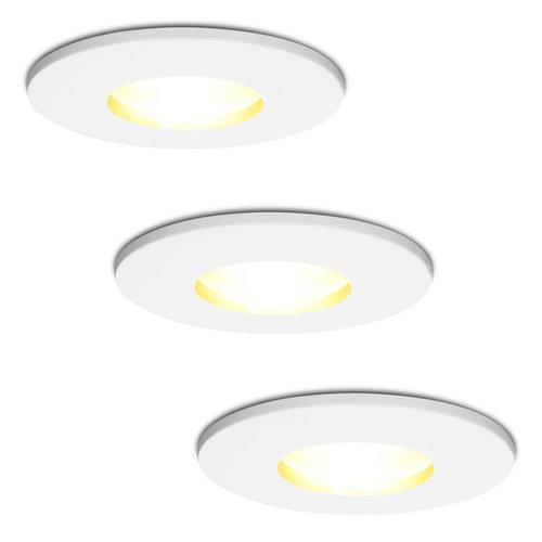 HOFTRONIC™ Set of 3 dimmable LED downlights Barcelona 5 Watt spot IP44 [waterproof]