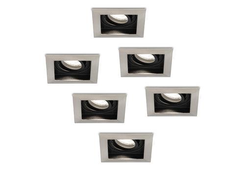 HOFTRONIC™ Set of 6 dimmable LED downlights Modesto 5 Watt 6000K daylight white tiltable IP20