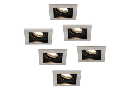 HOFTRONIC™ Set of 6 dimmable LED downlights Modesto 5 Watt 4000K neutral white tiltable IP20