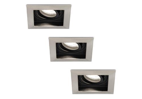 HOFTRONIC™ Set of 3 dimmable LED downlights Modesto 5 Watt 6000K daylight white tiltable IP20