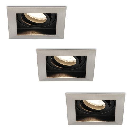 HOFTRONIC™ Set of 3 dimmable LED downlights Modesto 5 Watt 4000K neutral white tiltable IP20