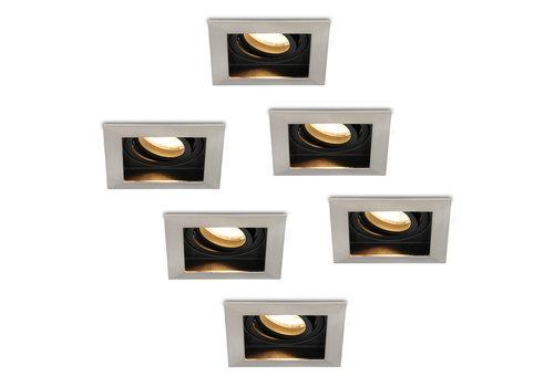 HOFTRONIC™ Set of 6 dimmable LED downlights Modesto 5 Watt 2700K warm white tiltable