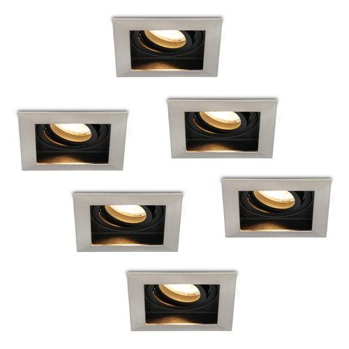 HOFTRONIC™ Set van 6 stuks Dimbare LED inbouwspot Modesto 4.2 Watt 2700K warm wit Kantelbaar