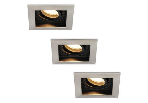 HOFTRONIC™ Set van 3 stuks Dimbare LED inbouwspot Modesto 4.2 Watt 2700K warm wit Kantelbaar