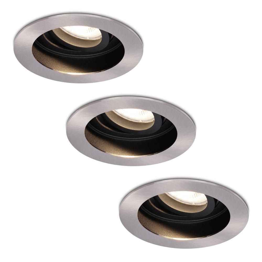 Set van 3 stuks Dimbare LED inbouwspot Mesa 6.5 Watt 4000K neutraal wit Kantelbaar IP20