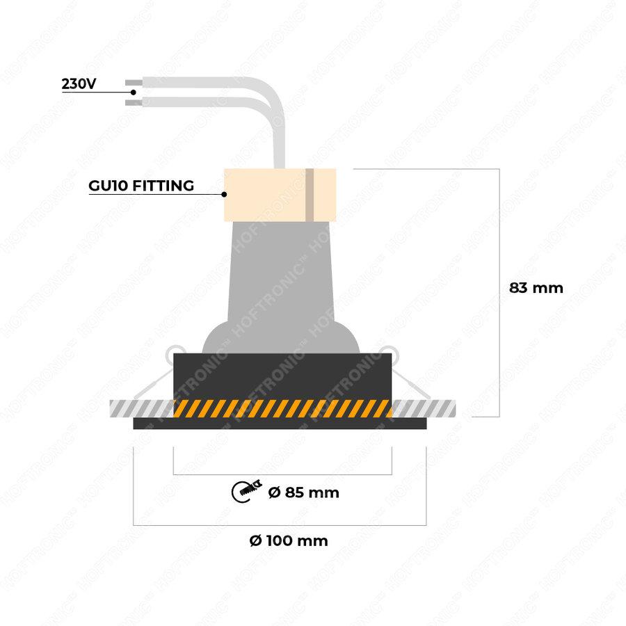 Dimbare LED inbouwspot Mesa 5 Watt 6000K daglicht wit Kantelbaar IP20