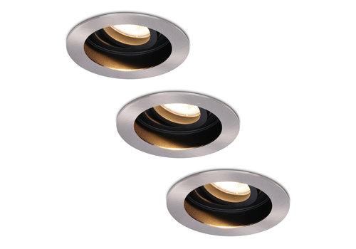 HOFTRONIC™ Set van 3 stuks Dimbare LED inbouwspot Mesa 5 Watt 2700K warm wit Kantelbaar