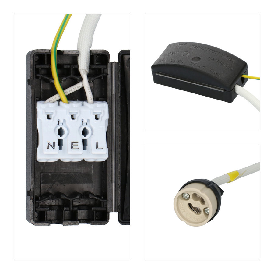 Set van 6 stuks smart WiFi dimbare RGBWW LED inbouwspots Bari RVS 5,5 Watt IP65 spatwaterdicht