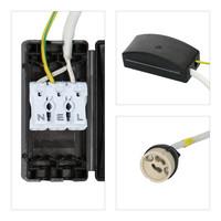 Set van 6 stuks smart WiFi dimbare RGBWW LED inbouwspots Bari zwart 5,5 Watt IP65 spatwaterdicht