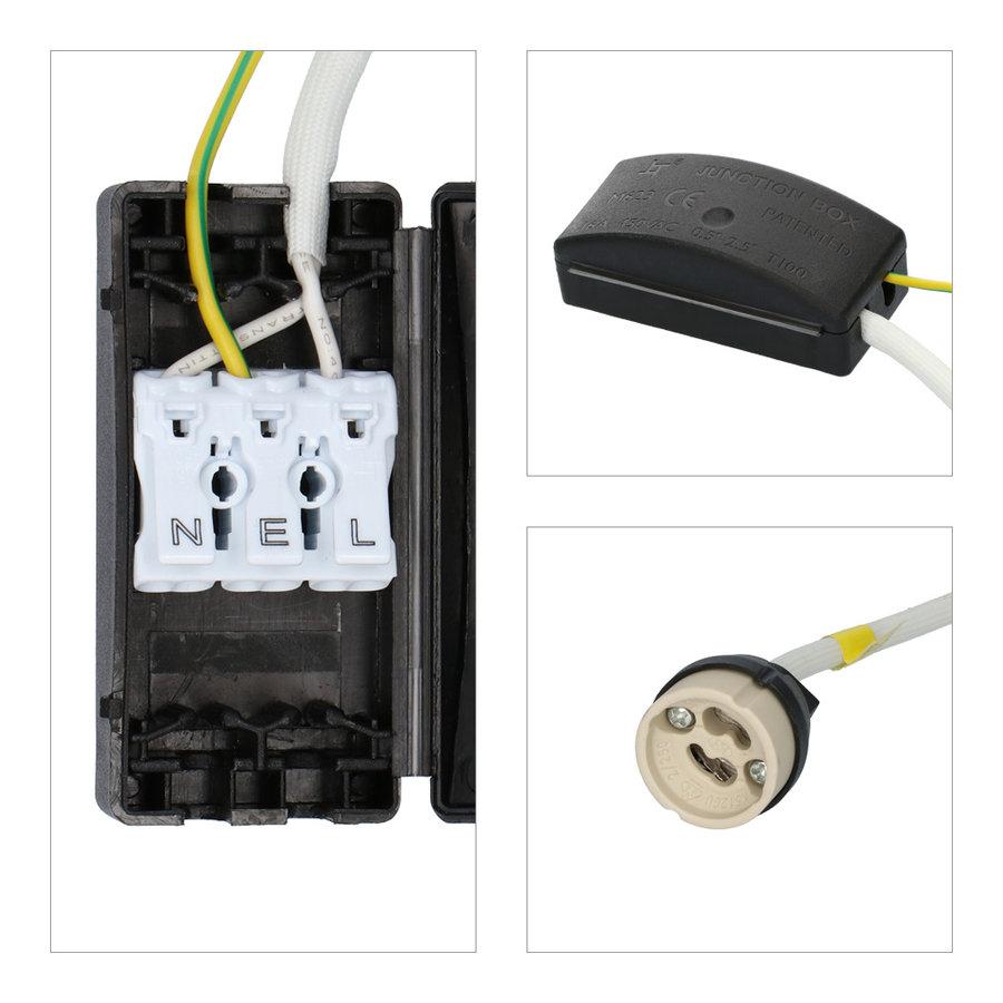 Set van 3 stuks smart WiFi dimbare RGBWW LED inbouwspots Bari wit 5,5 Watt IP65 spatwaterdicht