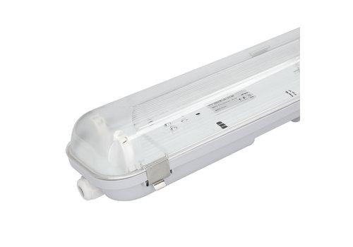 HOFTRONIC™ LED Wannenleuchte IP65 120 cm Edelstahlklammern Linkable Doppelversion