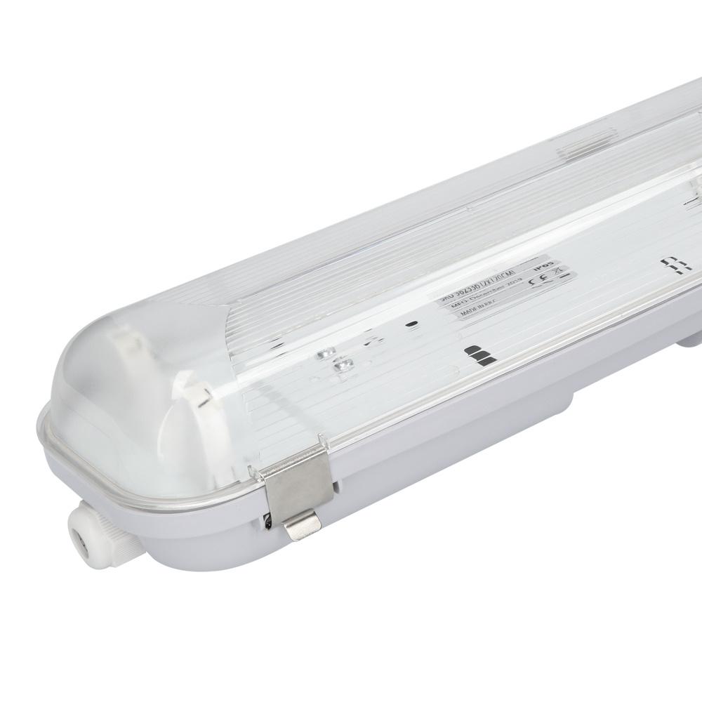 LED TL Armatuur IP65 120 cm RVS Clips Koppelbaar dubbelvoudige uitvoering