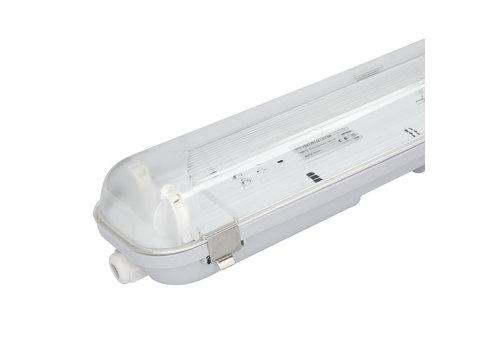 HOFTRONIC™ LED Wannenleuchte IP65 150 cm Edelstahlklammern Linkable Doppelversion
