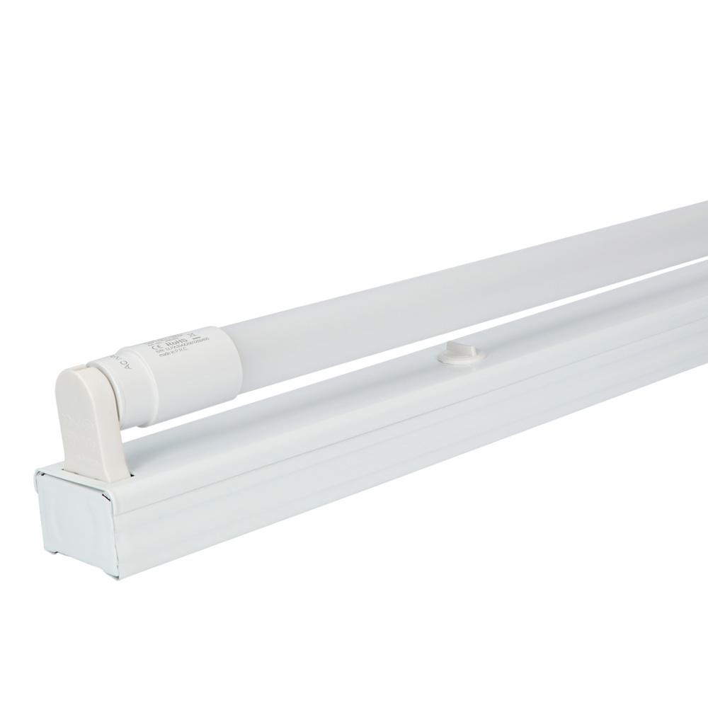 IP20 LED TL armatuur 60 cm enkelvoudig incl. 1x9W 1170lm 4000K 130lm/W LED buis