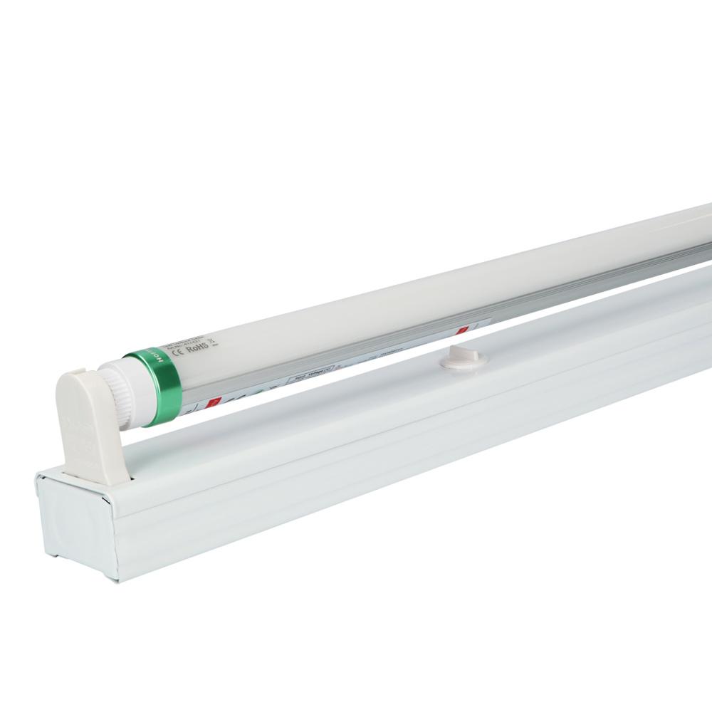 IP20 LED TL armatuur 60 cm enkelvoudig incl. 1x9W 1440lm 3000K 160lm/W LED buis