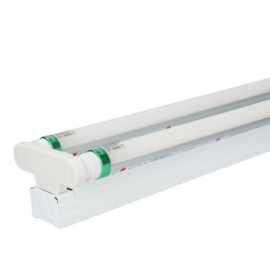 IP20 LED TL armatuur 60 cm incl. 2x9W 2880lm 6000K 160lm/W LED buis
