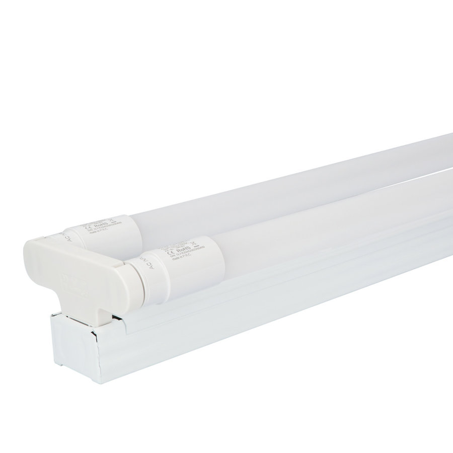 10x LED TL armatuur IP20 120 cm 3000K 18W 3960lm 110lm/W Flikkervrij