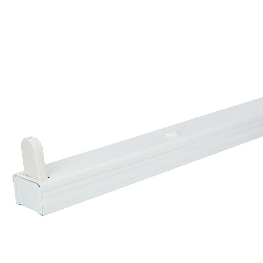 20x LED armatuur 120 cm IP20 voor droge ruimtes enkele uitvoering geschikt voor één buis