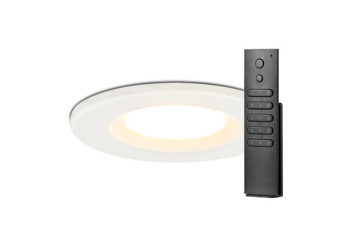 HOFTRONIC™ Set van 16 stuks dimbare LED inbouwspots wit Venezia 6 Watt 2700K IP65 incl. afstandsbediening