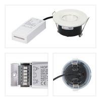 Set van 16 stuks dimbare LED inbouwspots wit Venezia 6 Watt 2700K IP65 incl. afstandsbediening