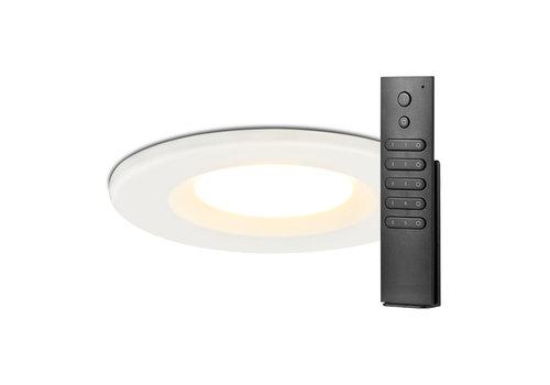 HOFTRONIC™ Set van 12 stuks dimbare LED inbouwspots wit Venezia 6 Watt 2700K IP65 incl. afstandsbediening
