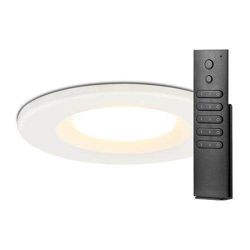 HOFTRONIC™ Set van 10 stuks dimbare LED inbouwspots wit Venezia 6 Watt 2700K IP65 incl.  afstandsbediening