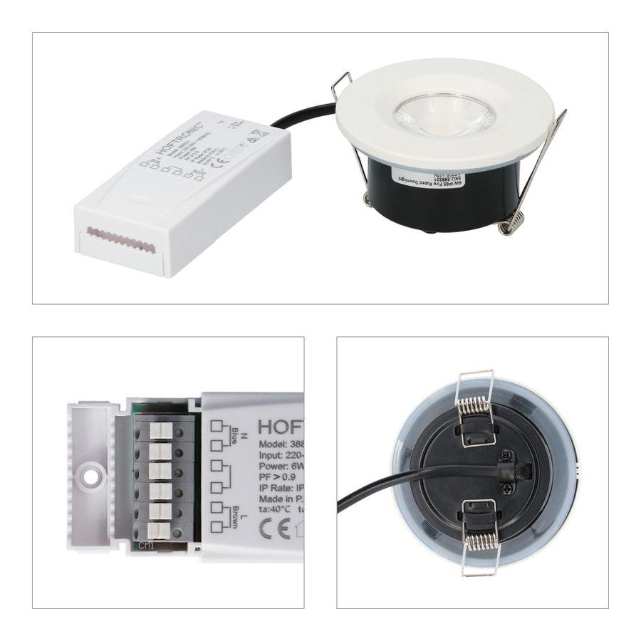 Set van 10 stuks dimbare LED inbouwspots wit Venezia 6 Watt 2700K IP65 incl.  afstandsbediening
