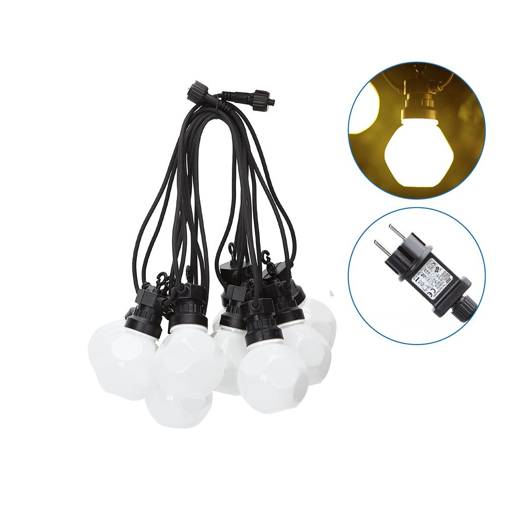 8m LED Prikkabel - String Light - 10 Milky LEDs - 3000K Warm wit - IP44 Lichtsnoer buiten