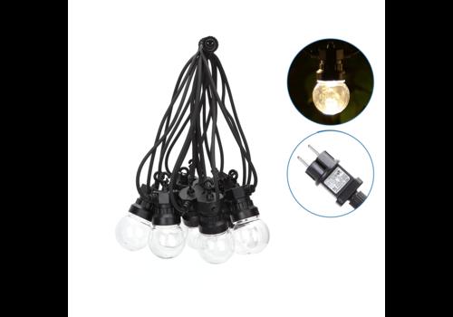 Aigostar LED String Light - 10 Transparante LEDs - 8m - 3000K Warm wit - IP44 Geschikt voor buitengebruik