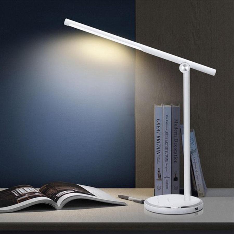 LED Bureaulamp Vince 8 Watt - Dimbaar - Lichtkleur instelbaar - USB oplaadbaar