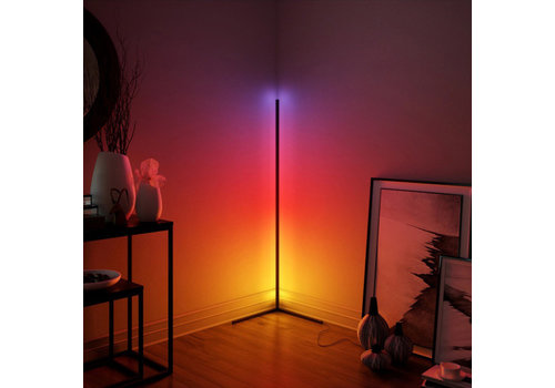 HOFTRONIC™ Moderne LED Vloerlamp Aurora Zwart RGB