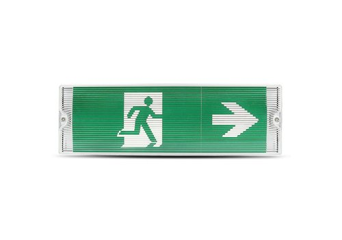 V-TAC LED Emergency light wall/ceiling mounted 3 Watt 6400K splashproof Incl. pictogram with escape route display
