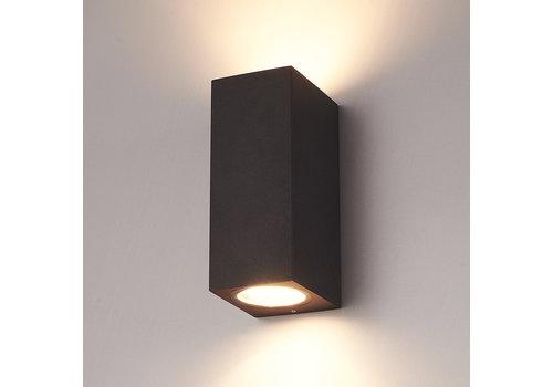 HOFTRONIC™ Dimmable LED wall light Selma Black IP44 double-sided incl. 2x5 Watt 2700K GU10 spots