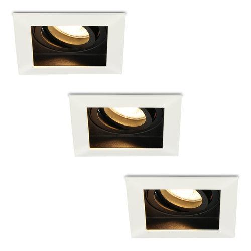 HOFTRONIC™ Set of 3 dimmable LED downlights Durham 5 Watt 2700K warm white tiltable