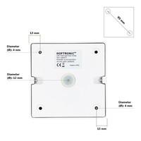 Dimbare LED opbouw plafondspot Esto Wit incl. GU10 spot 5W 2700K IP20 kantelbaar