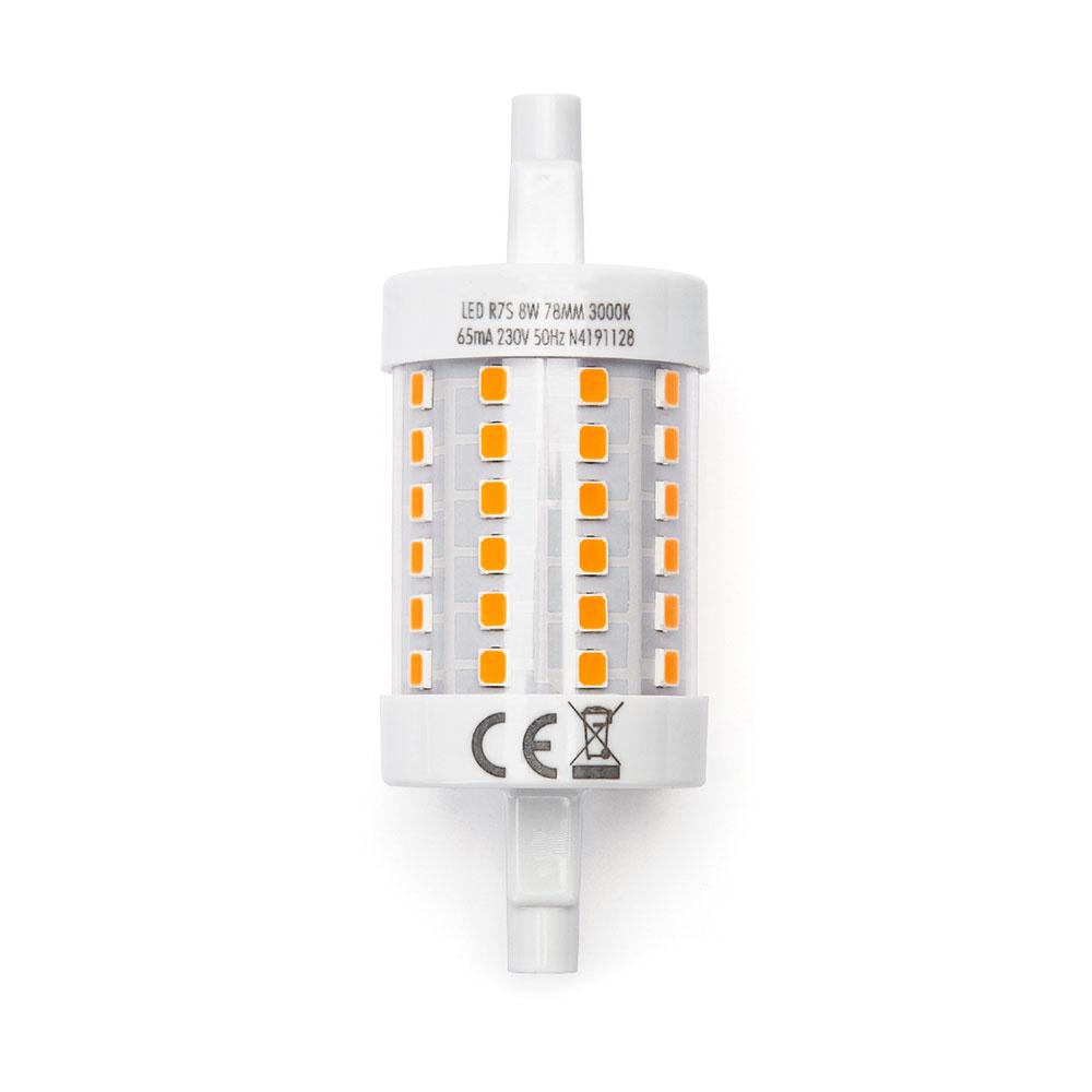 R7S LED Lamp 8 Watt 78 mm 3000K