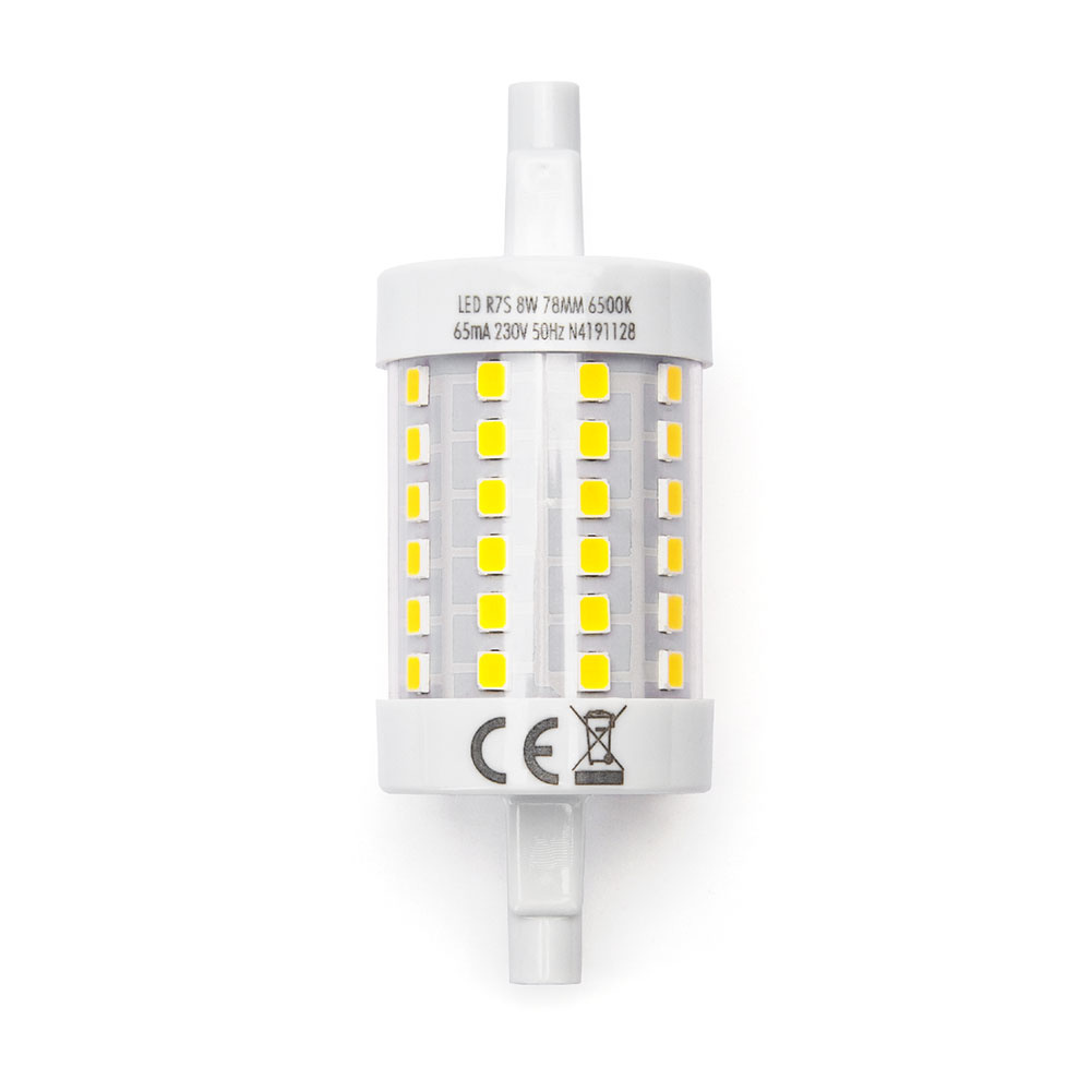 R7S LED Lamp 8 Watt 78 mm 6500K